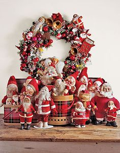 Vintage Santas!---Love collecting these! Thanks to my mom, I have quite a few!