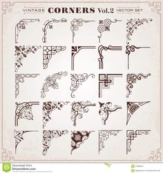 Vintage Design Elements Corners And Borders - Download From Over 38 Million High Quality Stock Photos, Images, Vectors. Sign up for FREE today. Image: 41882941