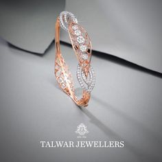3 Brands To Shop Exceptional Diamond Bangle Designs! Plain Gold Bangles, Gold Bangles Design, Jewelry Design, Manubhai Jewellers, Talwar Jewellers, Diamond Bracelets, Bangle Bracelets, Ladies Bracelet, Diamond Jewellery
