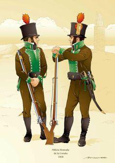 Fucilieri della milizia spagnola di Corugna