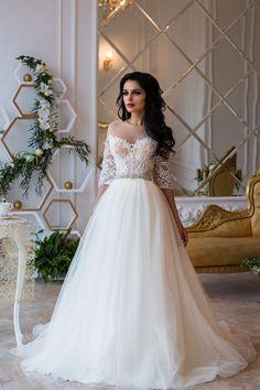 Wedding Dress Sky Long Sleeve Wedding Dress  Lace by APrioriBrand