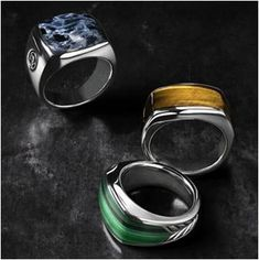 "Exotic Stone rings for men are a great way for men to show that they love classic looks and sophisticated accessories. Beautiful and not ""a thing""."