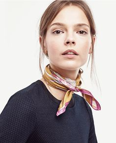 """Share Tweet Pin Mail While it certainly is not a new """"trend"""", I have been loving the idea of a chic, silk scarf tied ..."""