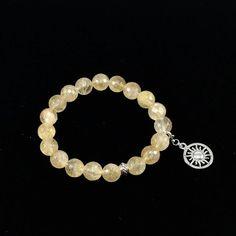 Citrine and Sun Charm bracelet/ Citrine/ yellow/ gemstone/