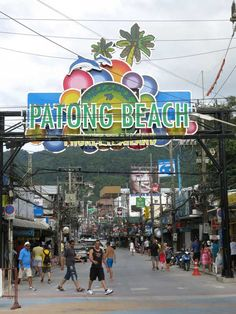 Busy Soi Bangla at Patong Beach.