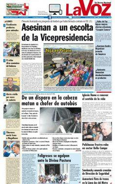PORTADA LA VOZ - NOTICIERO COMUNITARIO DEL TUY.@S R.FRANZ FREITES REPORTERO CIUDADANO DEL TUY.