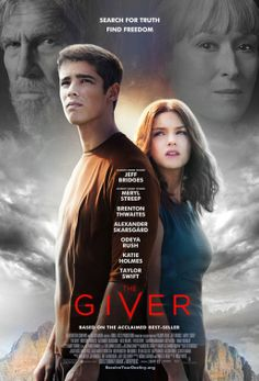 "The Giver (2014) In a future society called The Community, pain, war and disease have been eradicated, as have individuality and free will. A teenager named Jonas learns the truth about the real world from an elderly man, the true pain and pleasure of the ""real"" world. Brenton Thwaites, Jeff Bridges, Meryl Streep...TS drama"