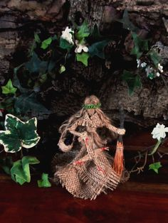 Pagan Hedge Witch Brigid Goddess Doll with Besom & St Brigid's Cross Handmade Home Blessing by PositivelyPagan Made to order £19.50