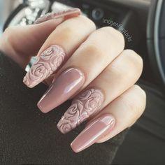 Textured rose pattern by Imogen Fox