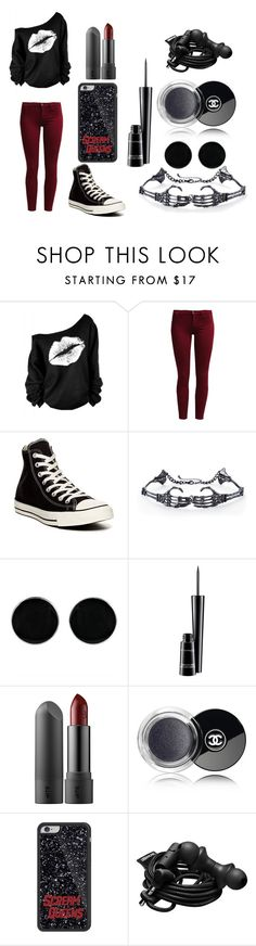 """Bad"" by silvii-2015 ❤ liked on Polyvore featuring Sisley, Converse, AeraVida, MAC Cosmetics, Chanel and Urbanears"