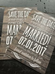 Rustic Save-The-Dates Postcard Optional by TheDesignBrewery