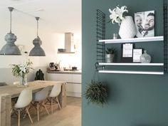Wauw! Het interieur van linda134 is om jaloers van te worden! De groene kleur op de muur wordt go...