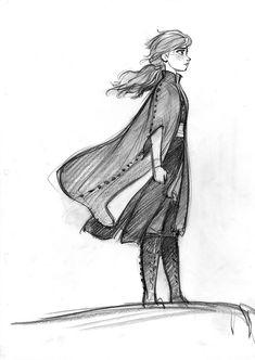 CosmoAnimato - Anna in Frozen 2 Anna Frozen, Frozen Disney, Princesa Disney Frozen, Disney Sketches, Disney Drawings, Art Sketches, Art Drawings, Drawing Faces, Disney Concept Art