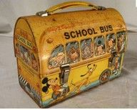 Late 70s - Early 80s Disney School bus lunch box. The exact lunch box I carried to Kindergarten. Still have it!