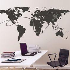 Aliexpress.com : Buy Hot Travel Around The World Wall Stickers ...