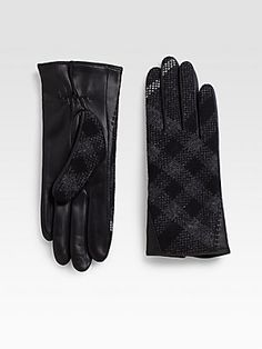 Burberry Tweed Gloves
