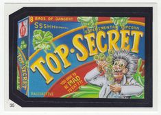 Wacky Packages All-New Series 2 # 35 Top-Secret Experimental Popcorn - Topps - 2005 Kids Stickers, Funny Stickers, Egg Muffin Cups, Garbage Pail Kids, Cartoon Jokes, Twisted Humor, Classic Tv, New Series, Kids Cards