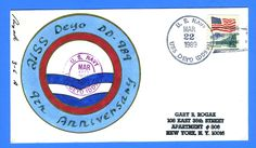 USS Deyo DD-989 9th Anniversary March 22, 1989 Rogak Handpainted Cachet