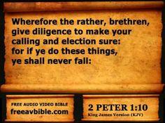 #61. 2 Peter Chapter 1 King James Version KJV N2 – Free Audio Video Bibl...