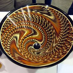 Segmented Wood bowl by Hal Metlitzky of Claremont, Ca  one of the most talked about pieces at the #AAWsymposium