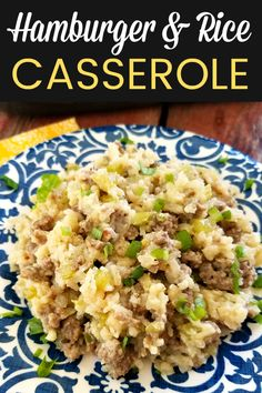 Hamburger Rice Casserole Ground beef and rice baked together in a classic casserole recipe thats easy to make your own Hamburger Meat Recipes Ground, Hamburger Dishes, Beef Dishes, Food Dishes, Ground Beef And Rice Recipes For Dinner, Main Dishes, Recipes With Hamburger And Rice, Ground Beef Sausage Recipe, Easy Hamburger Meals