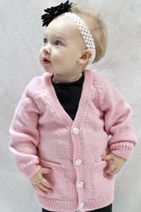 Knitted cardigan pattern