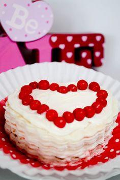 Red Hot Valentine Tortilla Cake {Recipe}