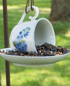 repurposed glass bird feeders - Google Search