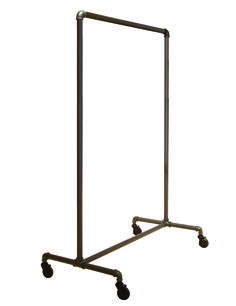 "MetropolitanDisplay - Urban Style Carbon Finish Single Rail Garment Rack, 52"" Wide, $79.99 (http://www.metropolitandisplay.com/urban-style-carbon-finish-single-rail-garment-rack-52-wide/)"