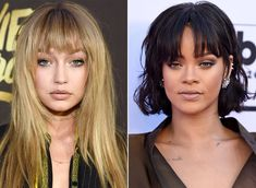 """These 10 celebrity fringes will make you want to say """"yes"""" to bangs this fall."""