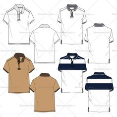 Fashion Drawing Product Image - Men's polo shirt fashion flat template in two different style includes back Polo Shirt Design, Polo Design, Polo Shirt Style, Shirt Sketch, Fashion Design Jobs, Fashion Designers, Mens Polo T Shirts, Jogger, Big Men Fashion