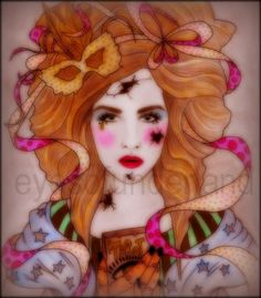 The Fortune Teller A3 / Lucy's Labyrinth by EYESOFUNDERLAND on Etsy