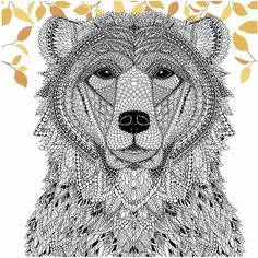 Color a Bear from The Menagerie (Free Adult Coloring Page) - Craftfoxes