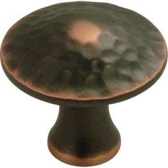 Craftsman 1-1/4 in. Oil Rubbed Bronze Highlighted Cabinet Knob
