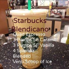 How to order my drink #Blendicano #Starbucks