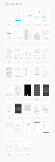 Wireframe kit full preview