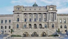 The Library of Congress, Thomas Jefferson Building - moseled after the lavish Paris Opera House