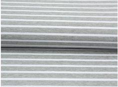 Jersey gesteift grau-meliert weiß