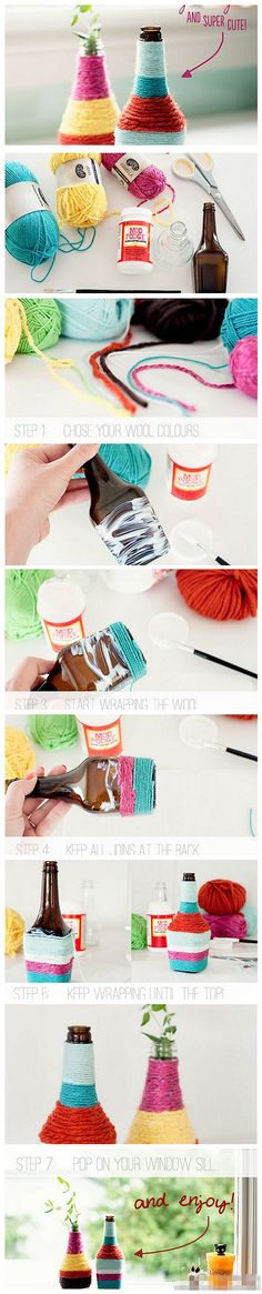 DIY Cute Bottle Vases Pictures, Photos, and Images for Facebook, Tumblr, Pinterest, and Twitter