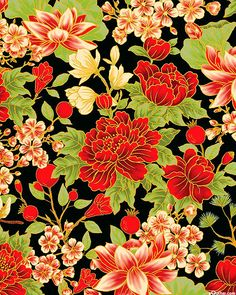 Cool Patterns, Textile Patterns, Fabric Print Design, Asian Fabric, Summer Palace, Iphone 6, Decoupage, Asian Design, Flower Embroidery Designs
