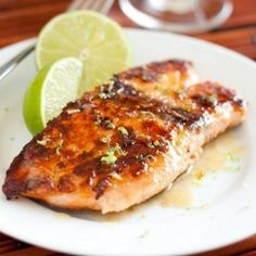 Pan Seared Honey Glazed Salmon with Browned Butter Lime Sauce - any recipe containing 6 TBS of butter is bound to be delicious