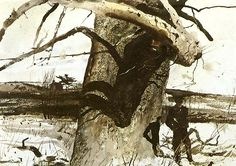 Andrew Wyeth - BUTTONWOOD - 19 X 13 7/8 In