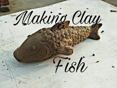 very easy making clay fish at home by pawan verma artist fish clay/fish curry/fihing/clay modling/ clay modeling for children/clay modeling sculpture/ diy/ f. Easy Clay Sculptures, Fish Sculpture, Animal Sculptures, Sculpture Ideas, Ceramic Animals, Clay Animals, Ceramic Art, Fish Fish, Fish Art