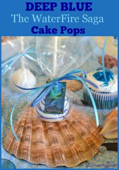 We are celebrating the release of book 1 in the new young adult book series by Jennifer Donnelly DEEP BLUE the WaterFire Saga with these DEEP BLUE Cake Pops. Cake Ball Recipes, Cupcake Recipes, Cupcake Cakes, Dessert Recipes, My Recipes, Desserts, Cupcake Ideas, Cookie Recipes, Cupcakes