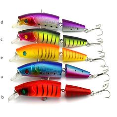 5pcs 14cm/20g Bright Color Jointed Fishing Lures Bionic Artificial Bait Hard Plastic Minnow Crankbaits Swimbait Plastic New