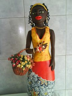 Artes e mil idéias: Minhas bonecas de Cabaça