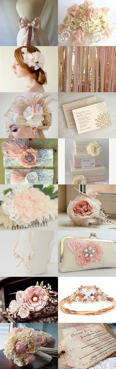 Blush pink wedding inspirations! by blueorchidcreations on Etsy