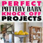 blog page with tons of pottery barn knock off projects!