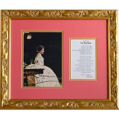 A Renée Fleming signed photograph from Franco Zeffirelli's production of Verdi's La Traviata. Renée Fleming, one of the most famous opera singers of our time, made her Met debut in 1991 and was awarded the National Medal of the Arts in 2013. Framed along with a program from this extraordinary production, this is one of the many opera collectibles at the Met Opera Shop. http://www.metoperashop.org/shop/rene-fleming-signed-photograph-and-met-program-11990