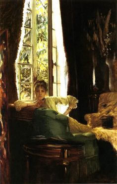 Woman in an interior James Jacques Joseph Tissot (15 October 1836 – 8 August 1902) was a French painter, who spent much of his career in Britain.